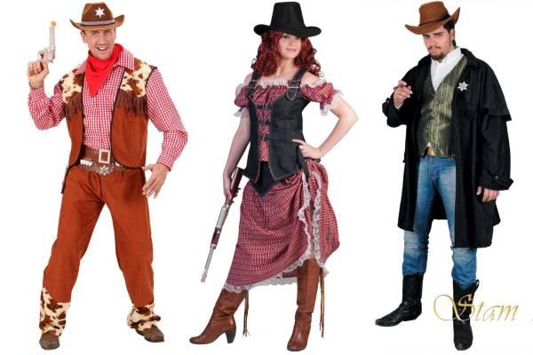 Costume de cowboy homme et femme
