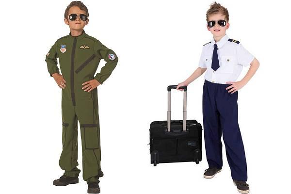 Déguisement pilote d'avion garçon