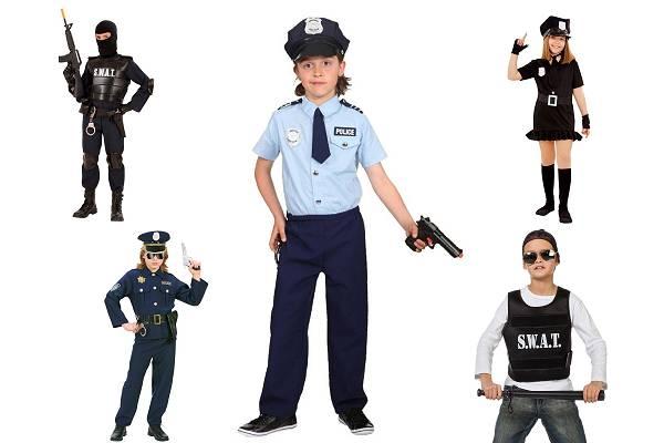 Déguisement policier garçon-fille