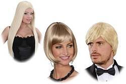 Perruque blonde pour femme et homme