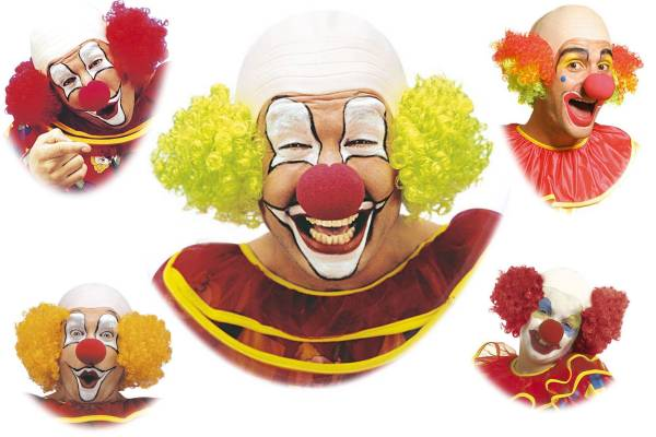 Perruque de clown chauve