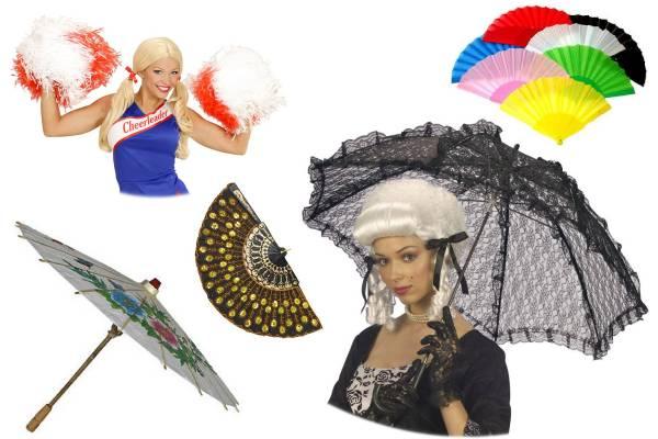 Eventails, ombrelles, pompoms