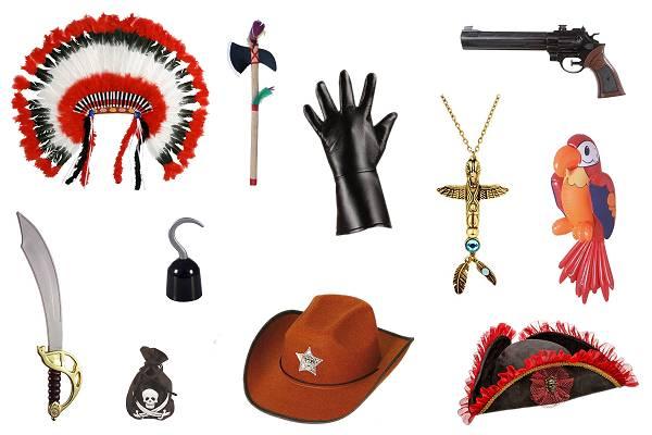 Accessoires Indien-Cowboy-Pirate