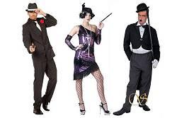 Costumes 1920 pour homme et femme