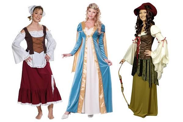 Costume médiévale femme