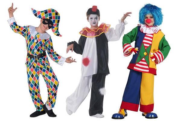 Déguisement de Clown, Pierrot et Arlequin Enfant