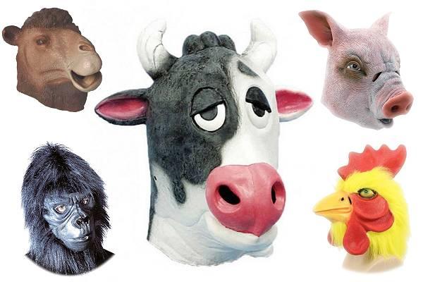 Masque animaux latex