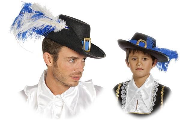 Chapeau de Mousquetaire Bleu