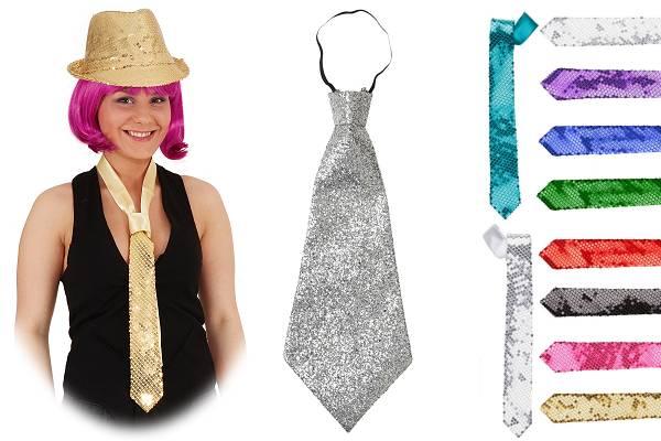 Cravates paillettes