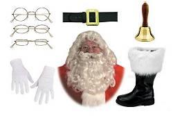 Accessoires Père Noël : Barbes-Perruques-Gants-Ceinturons-Lunettes-Ventres...