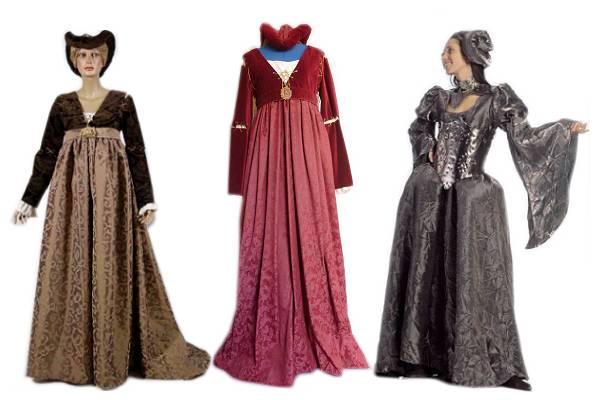 Robe médiévale haut de gamme