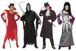 Costumes Halloween Adultes : Sorcière-Diable-Fantôme-Vampire...