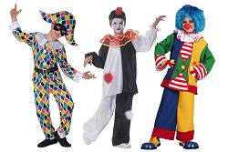 Costumes Clown-Pierrot-Arlequin Enfants : Clown-Pierrot-Arlequin