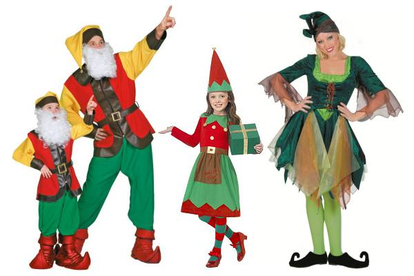 Santa's helper, Goblin, Elf costumes