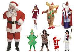 Bonnets de Noël et costume de Père Noël