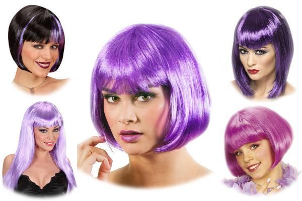 Perruque violette