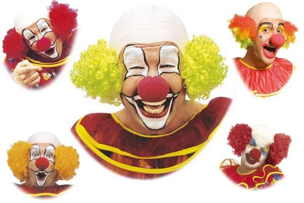 Perruque de clown chauve