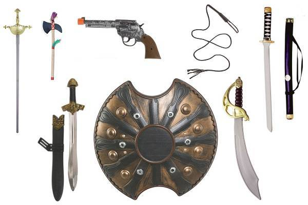 Fausses armes pour déguisement