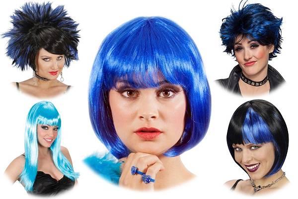 Perruque bleue