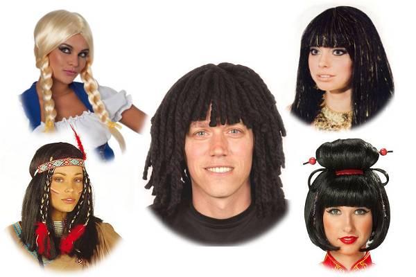 Perruques pour déguisement du monde