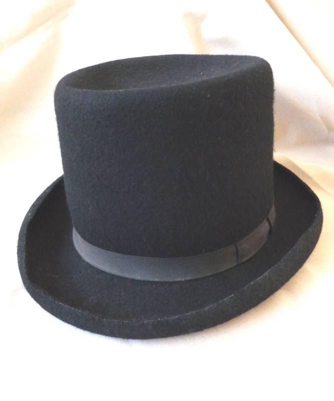 chapeau haut de forme noir m6 ac0002. Black Bedroom Furniture Sets. Home Design Ideas