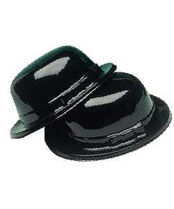 Chapeau-Melon-plastique-noir-par-12