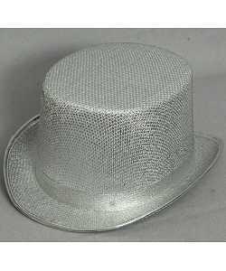 Chapeau-Haut-de-forme-Argent-Glitter-1