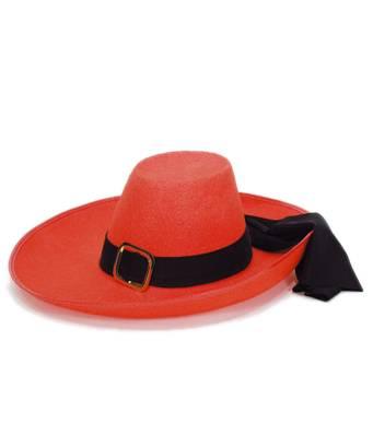 Chapeau-de-mousquetaire-rouge