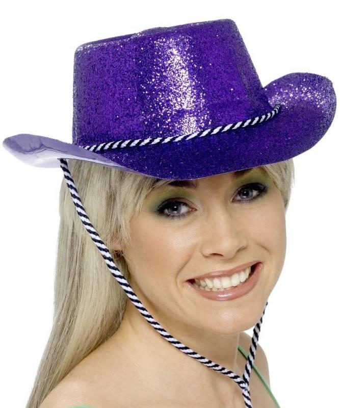 Chapeau-Saloon-Cowboy-paillet�-violet