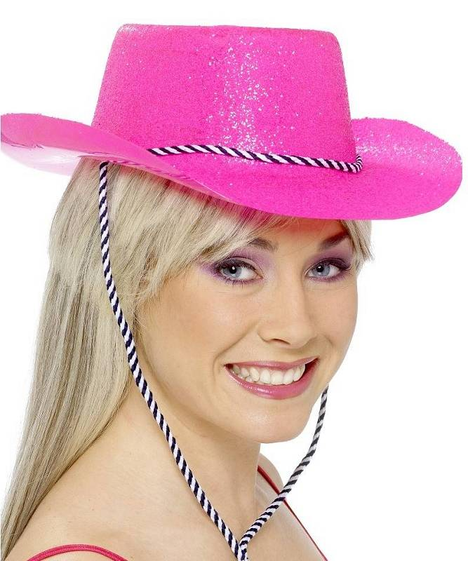 Chapeau-Cow-Boy-Saloon-pailleté-rose