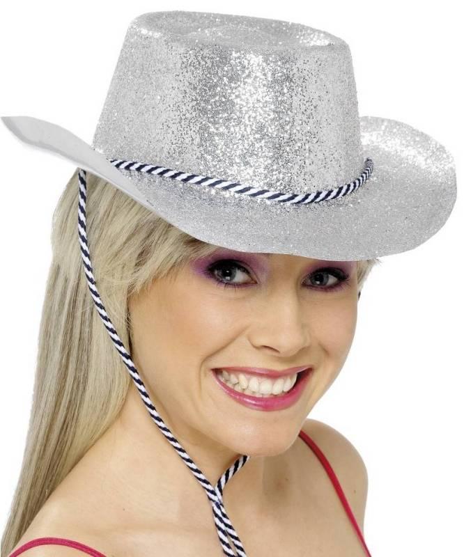 Chapeau-Cowboy-Saloon-pailleté-argent