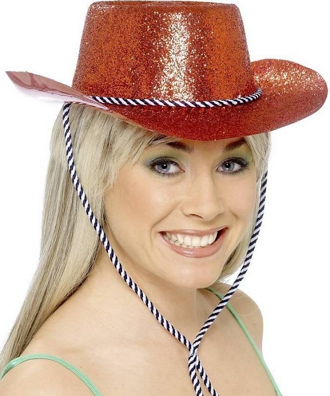 Chapeau-Cow-Boy-Saloon-paillet�-rouge