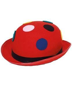 Chapeau-Melon-rouge-à-pois