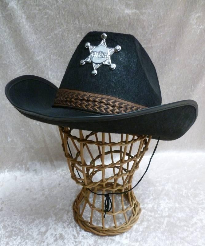 Chapeau-de-cowboy-Adulte-Sheriff-noir