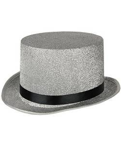 Chapeau-Haut-de-forme-Lurex-argent