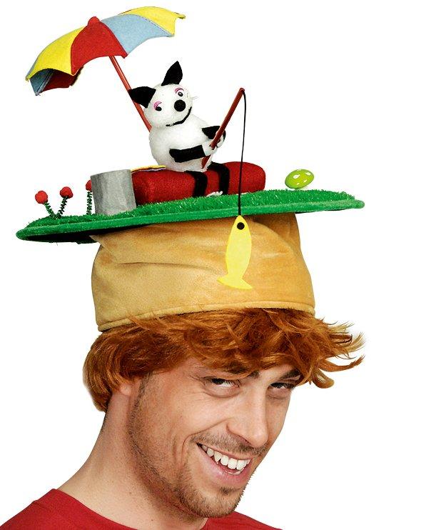 Chapeau-Humoristique-Chat-pêcheur
