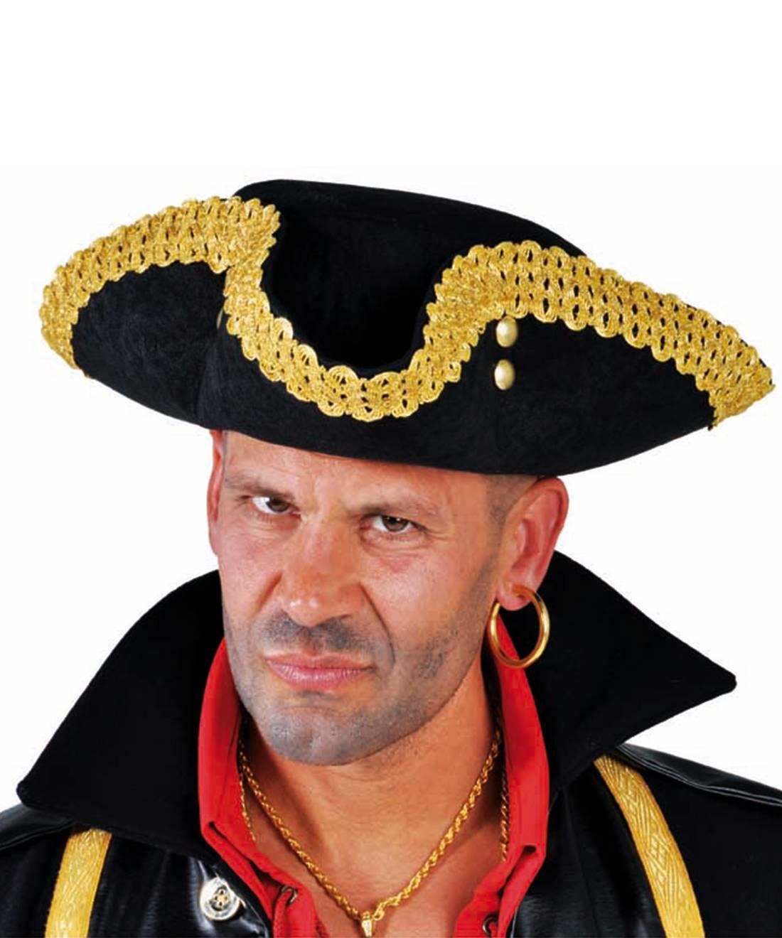 Chapeau-Tricorne-noir-et-or-3