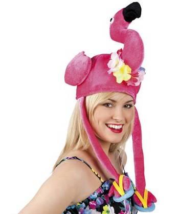 Chapeau-Flamant-rose-sur-tête