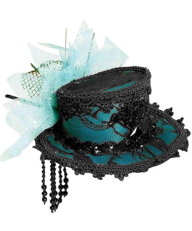 Chapeau-Bibi-de-style-époque-bleu