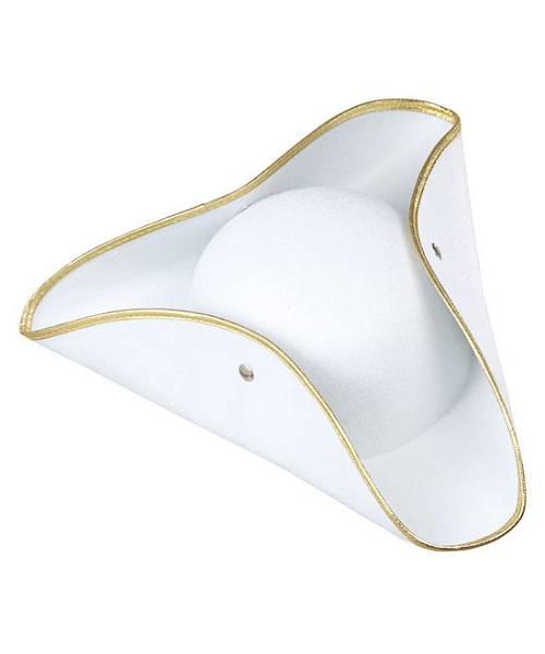 Chapeau-Tricorne-Blanc