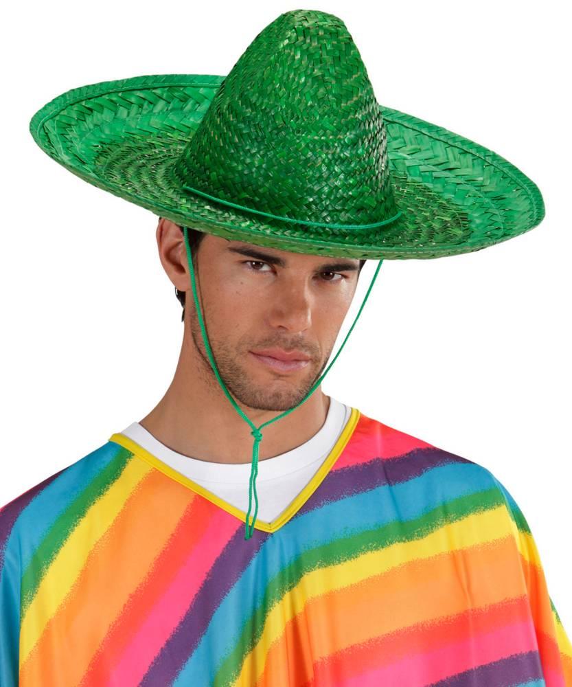 Sombrero-mexicain-vert-48cm