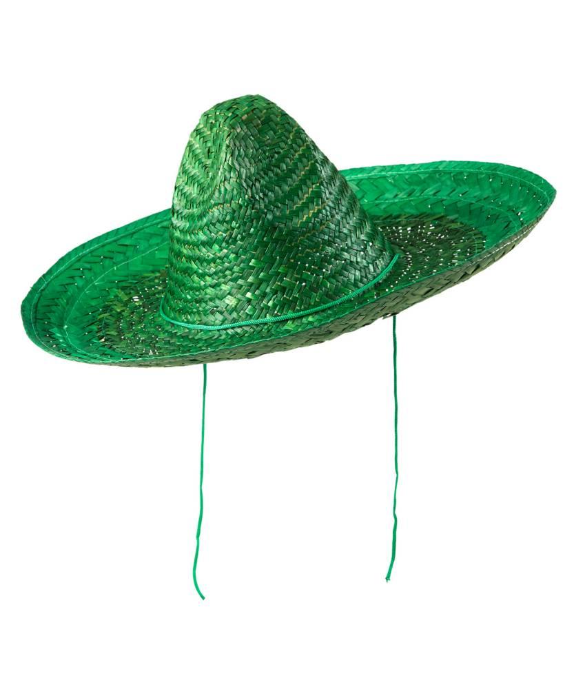 Sombrero-mexicain-vert-48cm-2