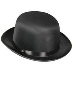 Chapeau-Melon-noir-satin