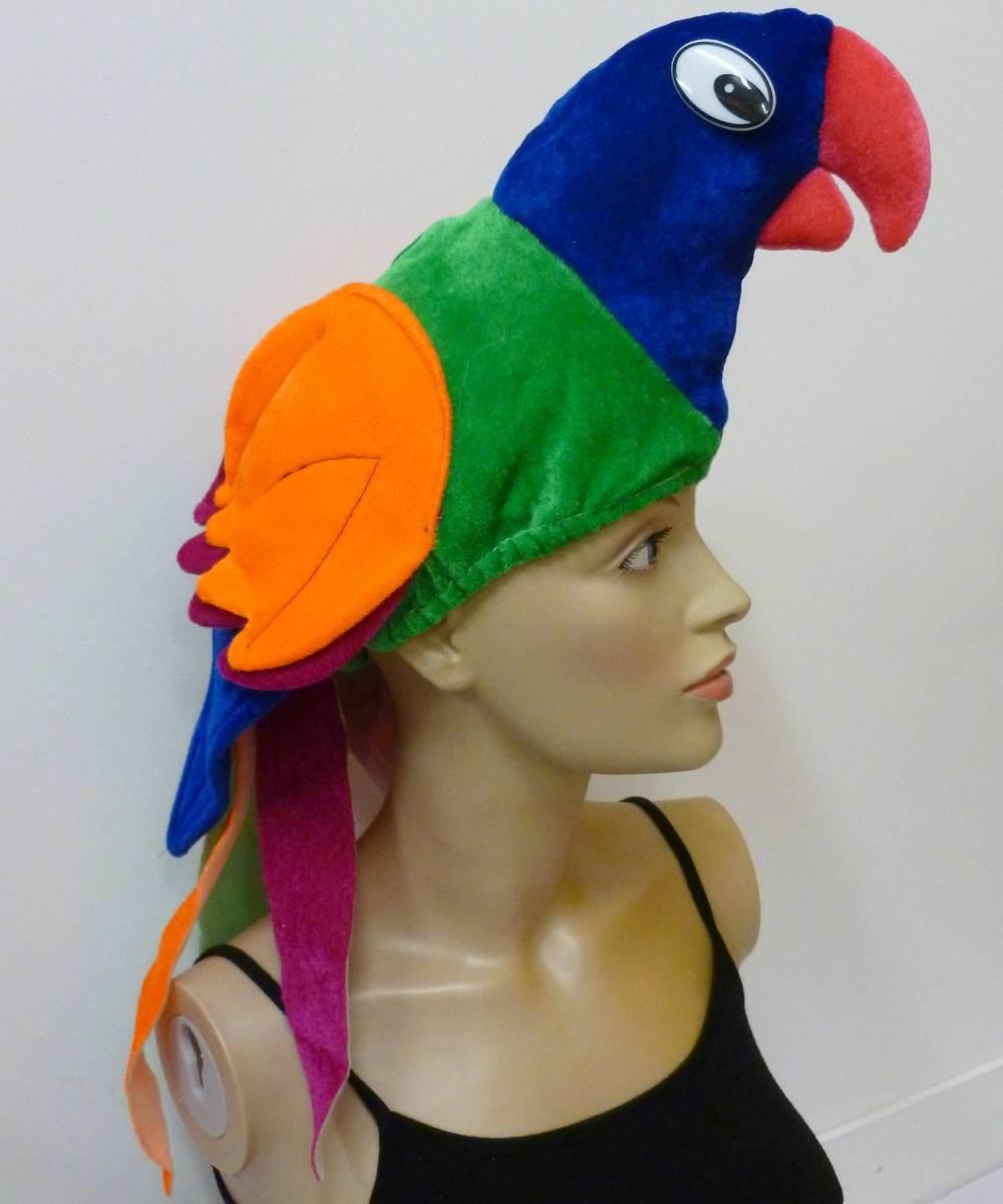 Chapeau-de-perroquet-sur-tête