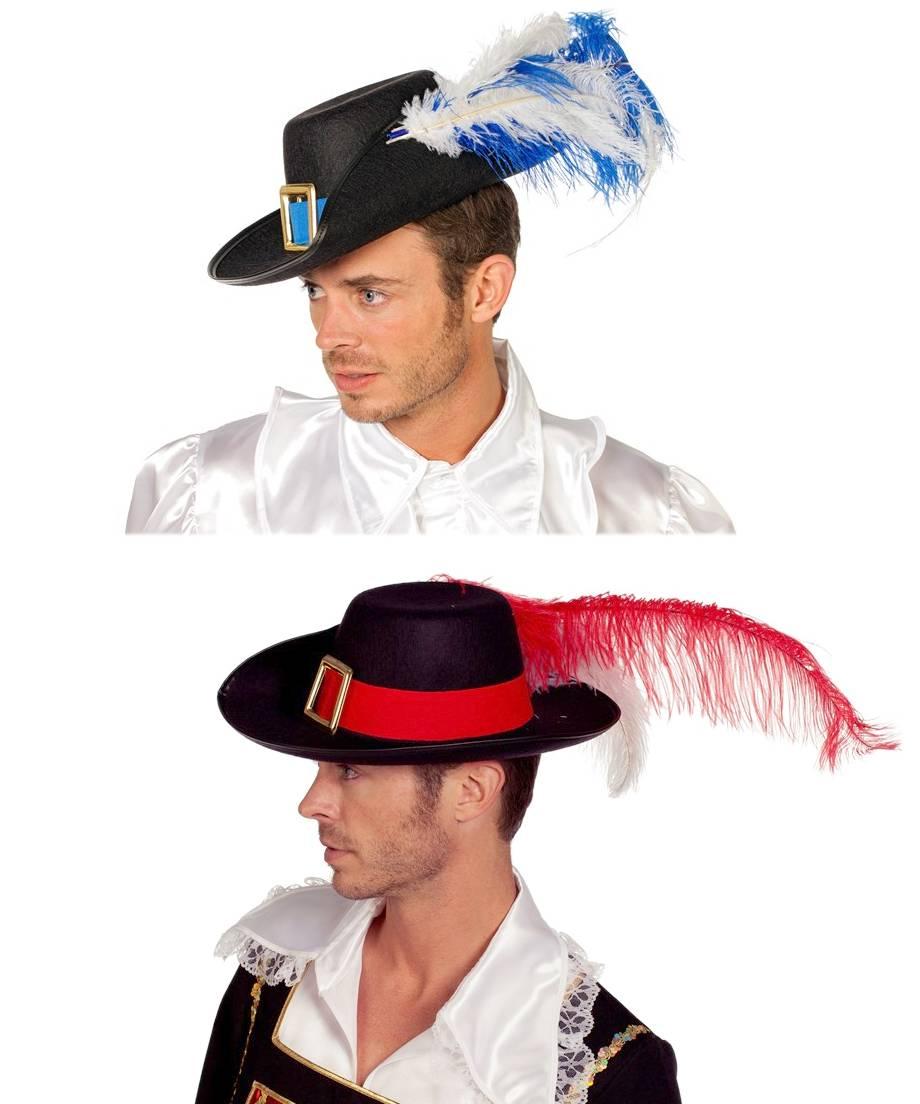 Chapeau-de-mousquetaire-avec-plumes