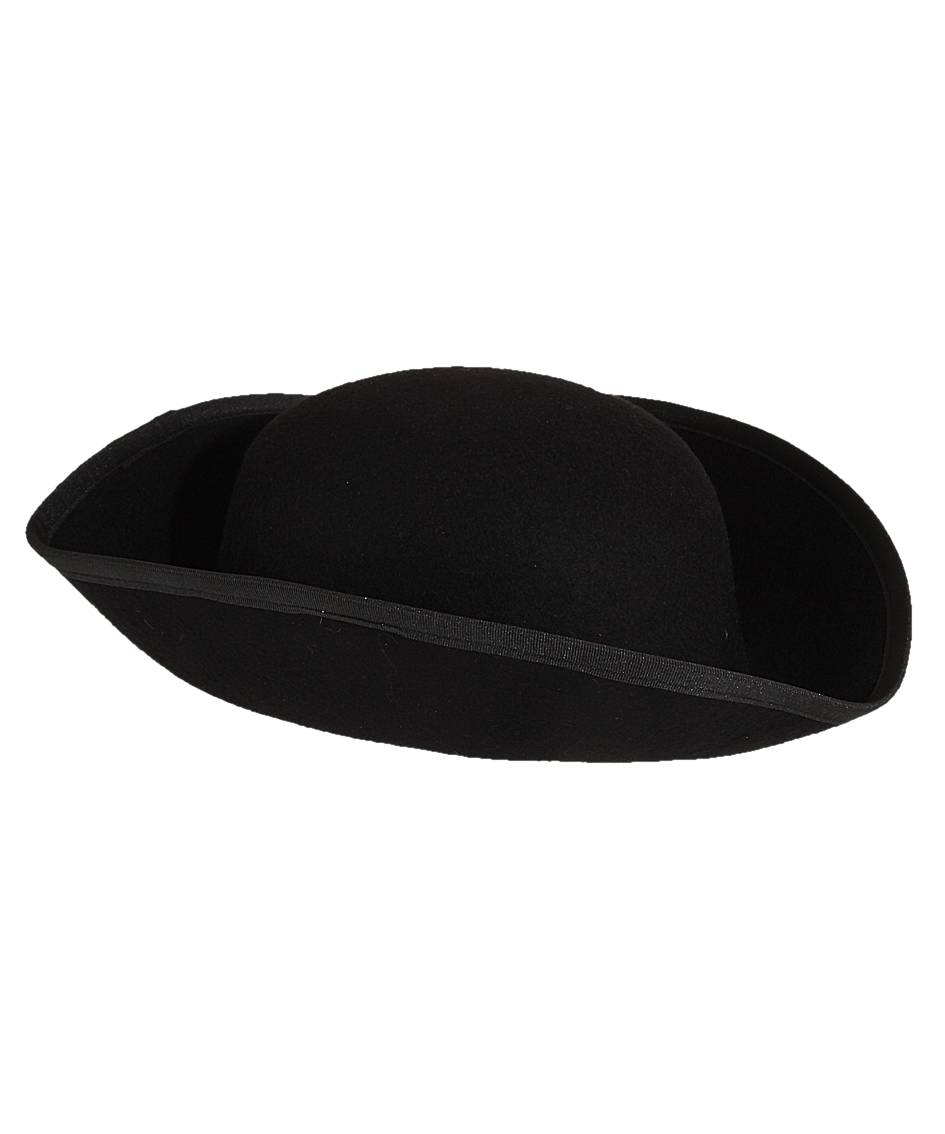 Chapeau-Tricorne-noir-luxe-en-laine