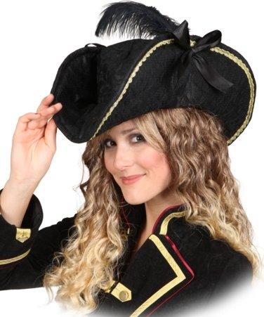 Chapeau bicorne pour femme