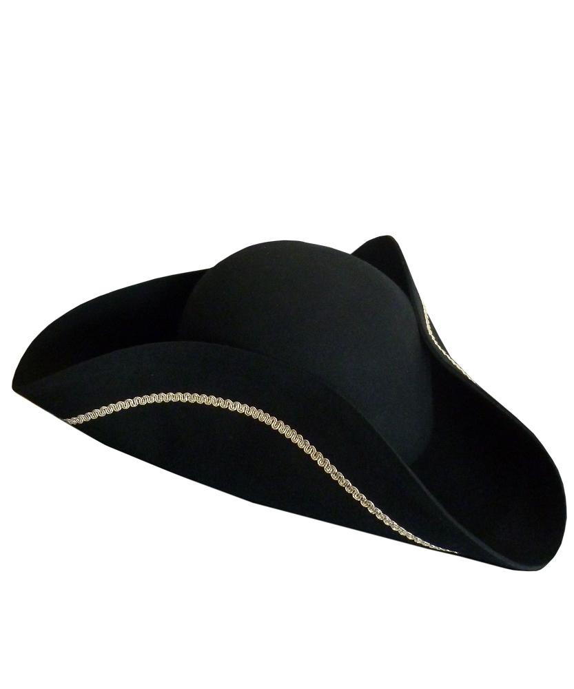 Chapeau-Tricorne-noir-en-laine