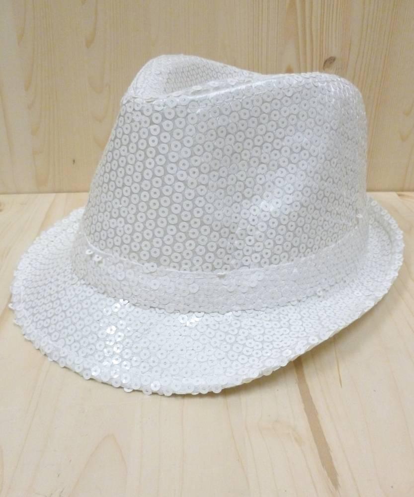 Chapeau-Disco-paillettes-blanc