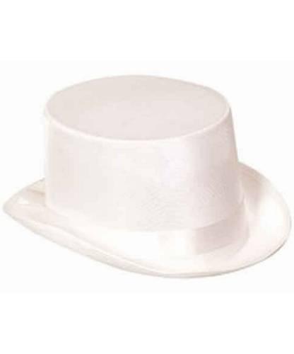 Chapeau-Haut-de-Forme-Blanc-satin